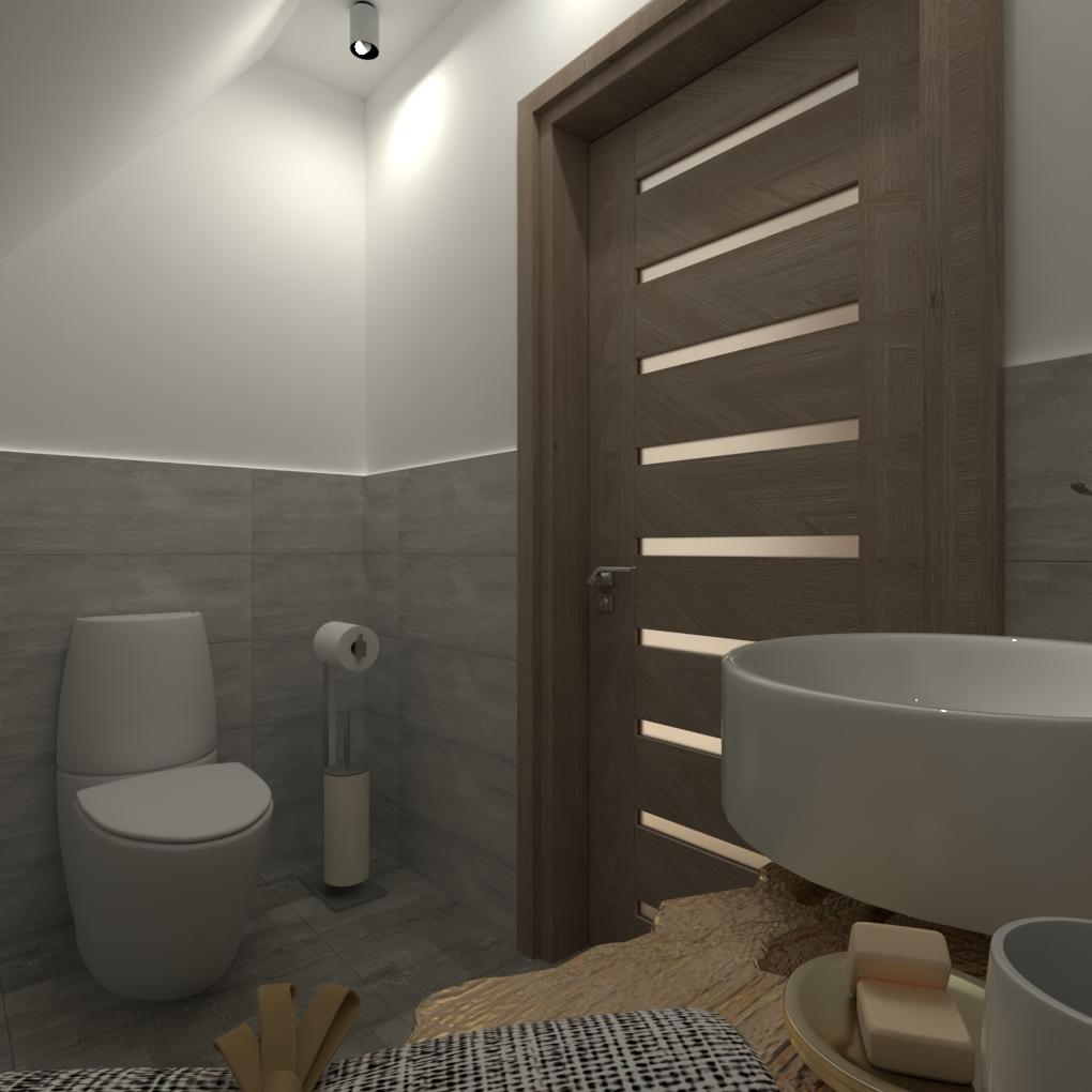 Mała łazienka Na Poddaszu Lempart Studio Projektowanie